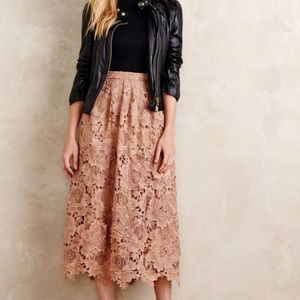 Intricate Floral Lace Skirt